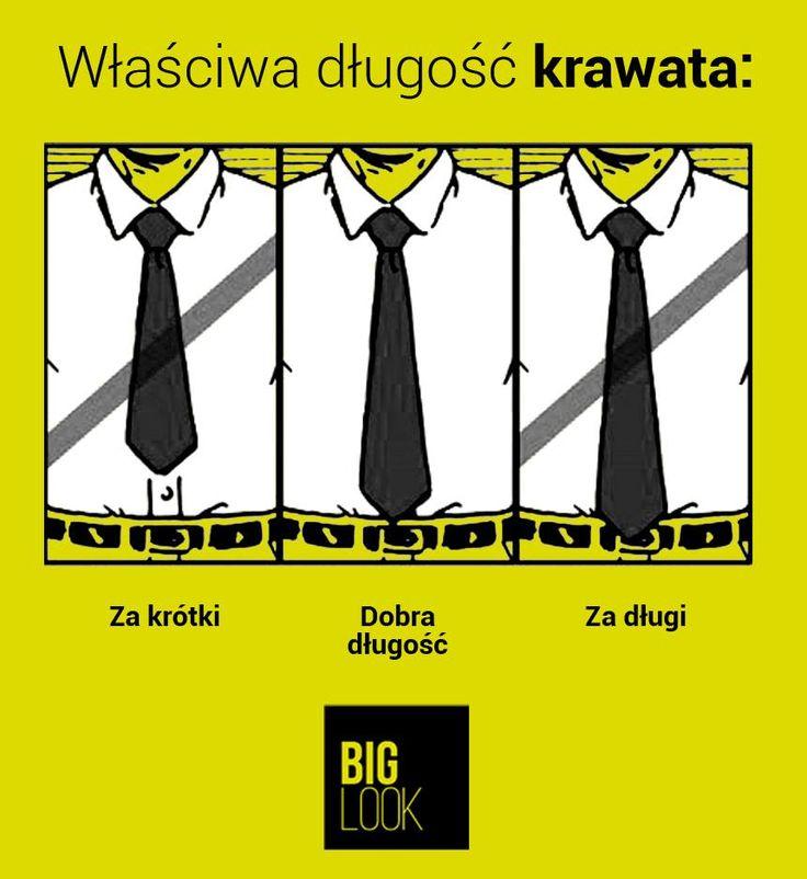 Mała ściąga dotycząca właściwej długości krawata :)