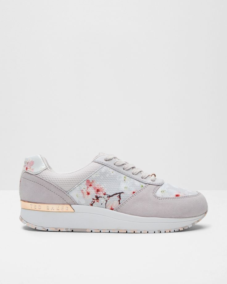 Oriental Blossom Sneakers - Light Gray | Shoes | Ted Baker