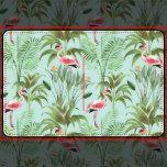 De schitterende vintage ontwerper inspireerde tropisch badkamersdecor. De roze flamingo's, de ananassen, en het tropische gebladerte maken deze schitterende mengeling en gelijke reeks ontwerpen een ware klap.