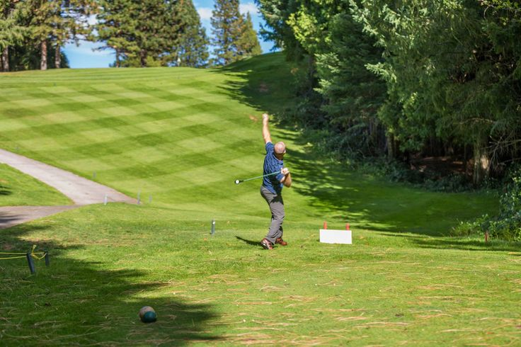 Playing Whing Golf at Mt Shasta Golf courses, Shasta