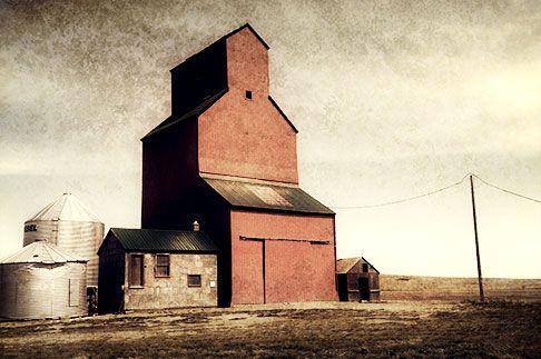 Prairie wheat elevator, Canada.