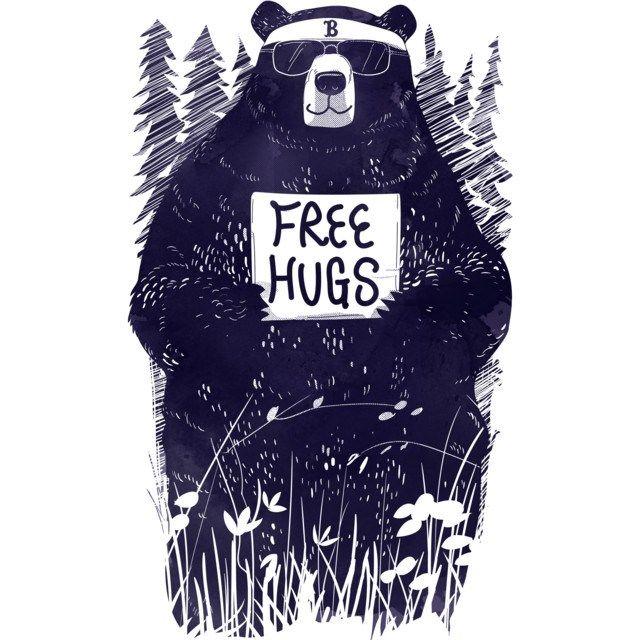 FREE HUGS T-shirt Design by gloopz