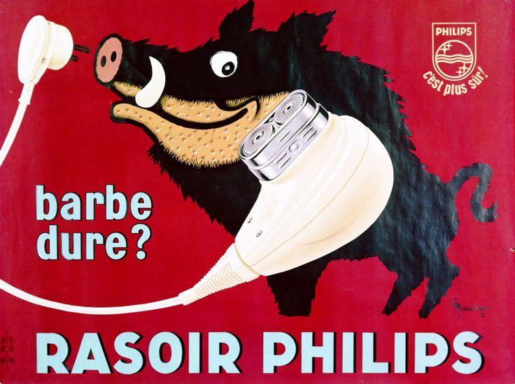Philishave, affiche, Franstalig, 1958