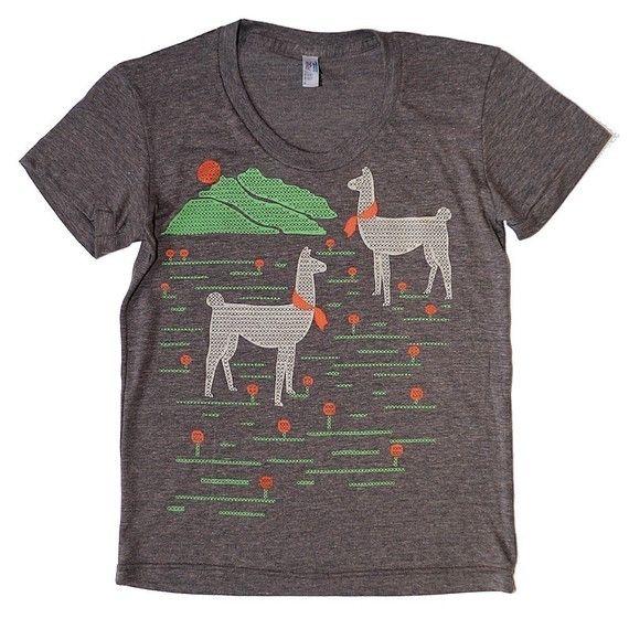 Llama t-shirt Etsy  $33