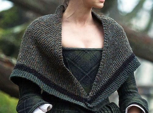 It's worth watching Outlander just for the knits. I love how rustic they are, I could do this.