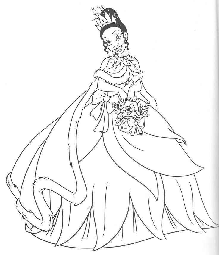 Princess Tiana Coloring: Pin By Ginette Blais On Disney Tiana