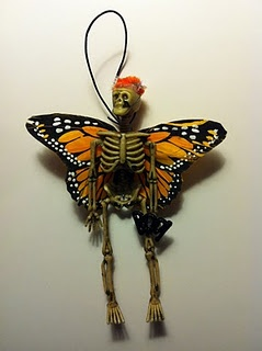 """A skeleton fairy.  I've seen these also called """"Dead Fairies"""".  I think I need to make one, maybe a fairy in a jar?"""