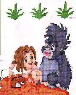 Punto Croce: Tarzan 10 1di2