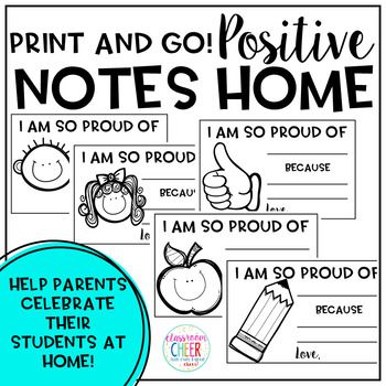 Sending positive notes home are a great way to engage parents and let them know about their students' successes throughout the day!These notes are easy to use!Print them on colorful paper  to fill out throughout the dayOREdit them on your computer and print - ready to send home!!I hope these notes help you spread cheer to the families you work with!