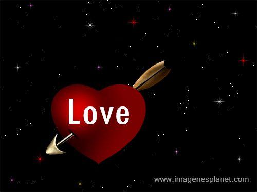 Corazon flechado de amor