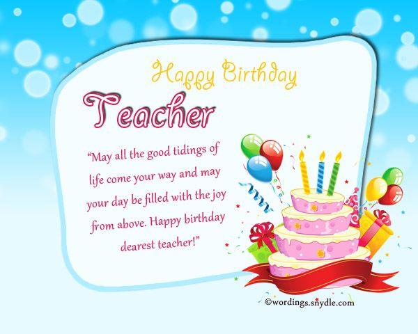 Image Result For Sample Gift CARD TEACHER BIRTHDAY Birthday List Wishes Teacher