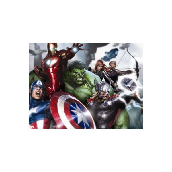 Avengers Assemble - Gallery Edition Situational Art Wall Art Decal (£23) ❤ liked on Polyvore featuring home, home decor, wall art, artists, avengers wall art, marvel avengers wall stickers, avengers decal, avengers poster and marvel avengers wall decals