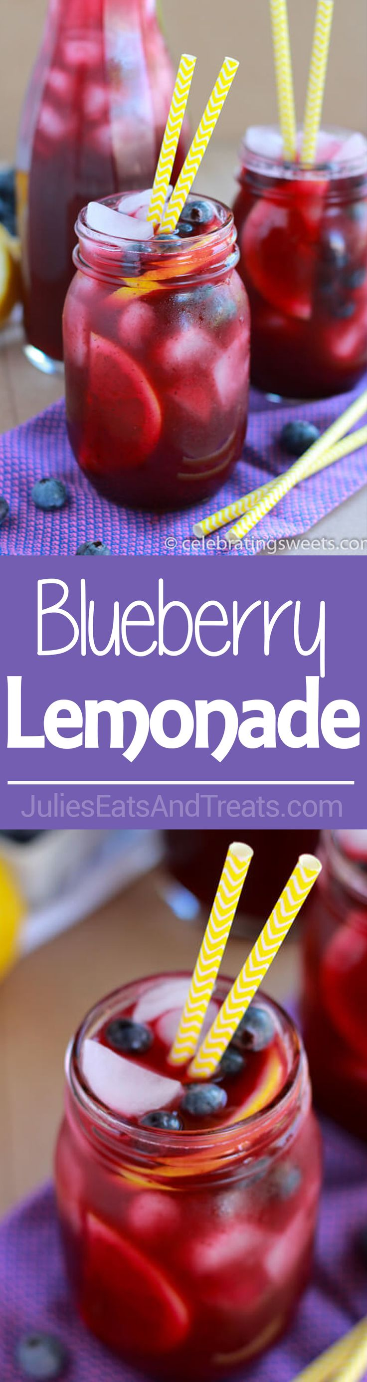 Blueberry Lemonade - Light and refreshing homemade lemonade flavored with fresh blueberries. The perfect summertime drink! via @julieseats