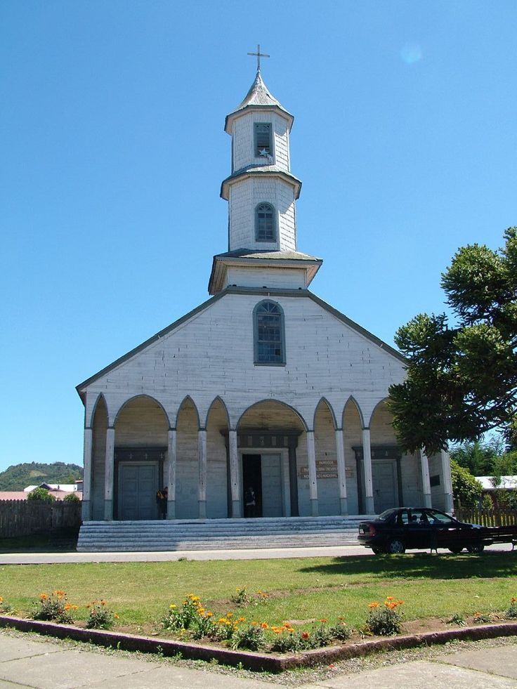 Church of Our Lady of Sorrows - in the town of Dalcahue on Chiloe Island, Chile (Churches of Chiloe)