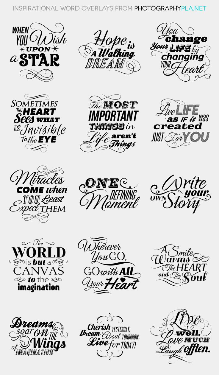 Inspirational Word Overlays