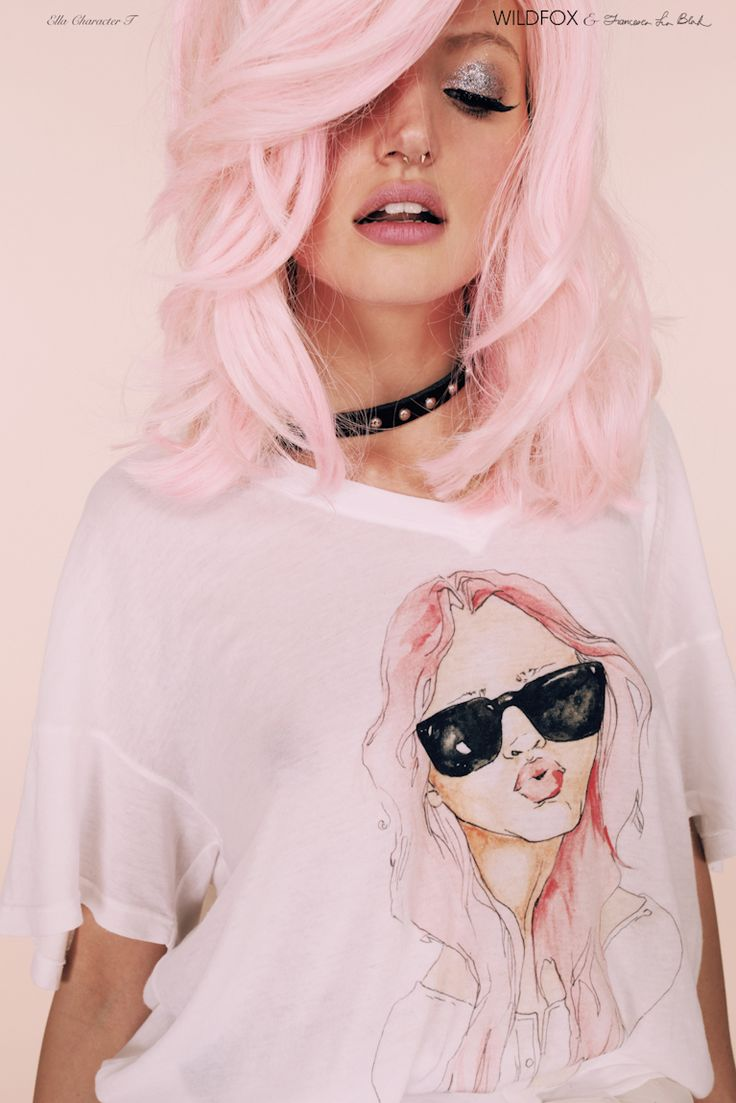 Water Color Shirts-- I need to make my own! Wildfox, Magical Creatures, collaboration with Francesca Lia Block.