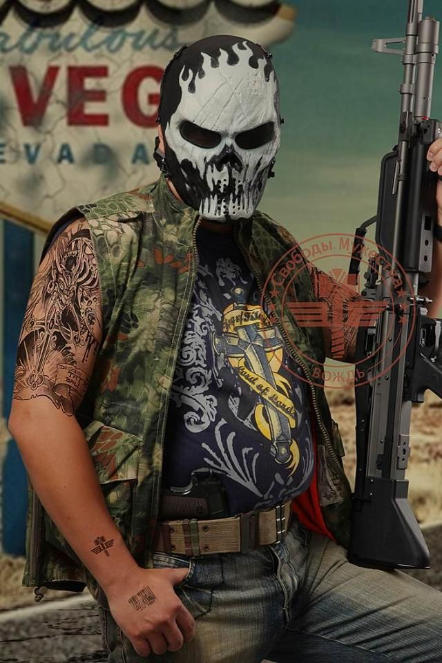 Military Defense Skeleton Mask Custom baggers, Full face