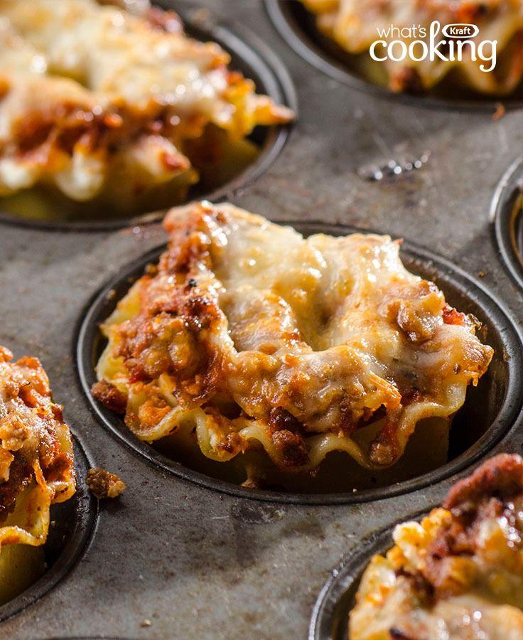 Mini Lasagna Cups #recipe (Mini Muffin Ground Turkey)