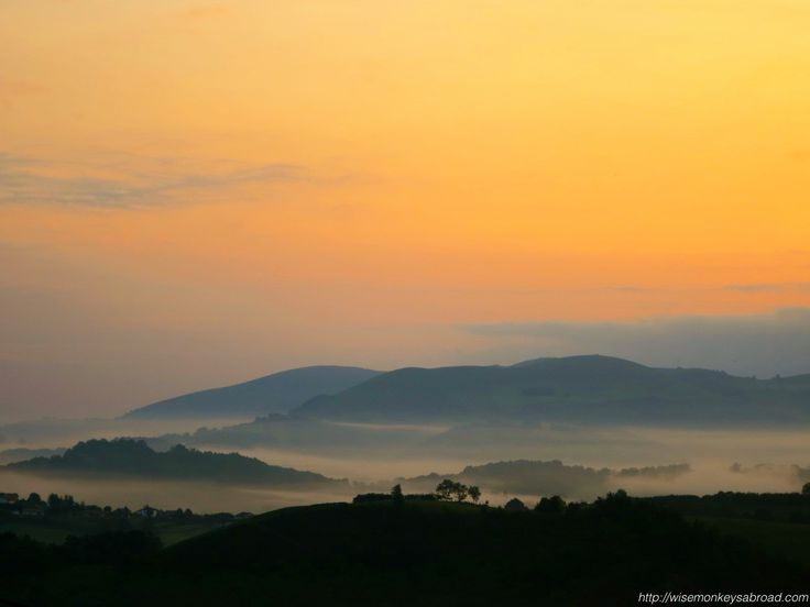 A photo taken over the Pyrenees at the start of our Camino.
