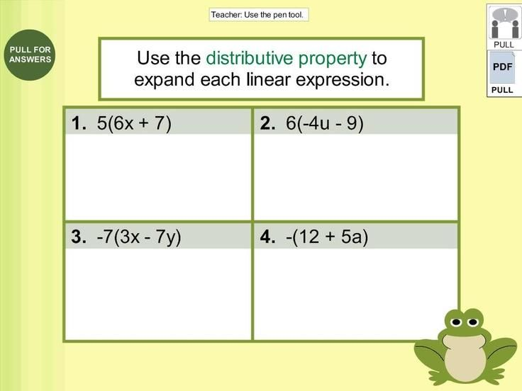 10 Math Worksheets Grade 7 Distributive Property