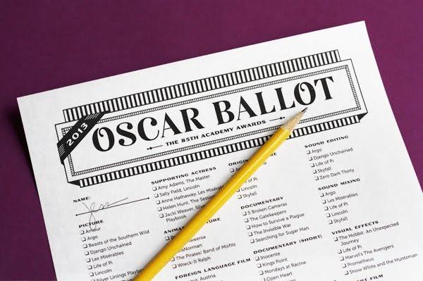 2013 Oscar ballot download