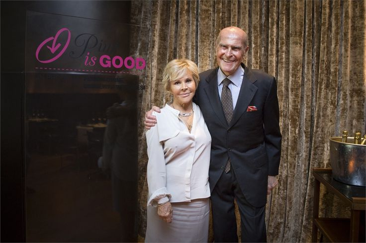 Anna Molinari and Umberto Veronesi at the #PinkisGood @Fondazione Harley Veronesi Project presentation in Milan.