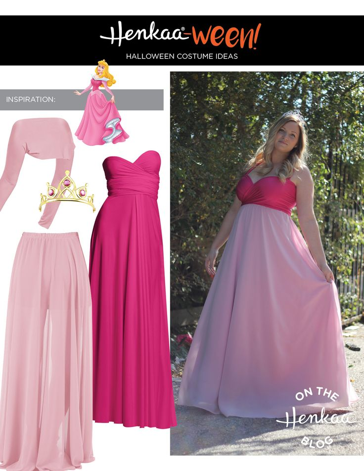 Make your own Princess Aurora Costume this year. Cute Disney Sleeping Beauty outfit!