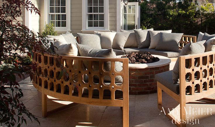 Curved Outdoor Sofa, Transitional, deck/patio, Amy Meier Design