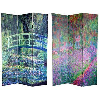 Here you will find some of the best home  wall art décor around. You will find #travel  #wall# art, #landscape wall art, #fantasy home wall art décor, animal wall art  home #décor, love wall art and so much more.  All beautiful, trendy and charming accents for your home.      Oriental Furniture 6 ft. Tall Double Sided Works of Monet Canvas Room Divider - Water Lily/Garden