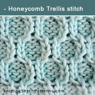 Honeycomb Trellis stitch. Free Knitting Pattern includes written instructions and video tutorial.