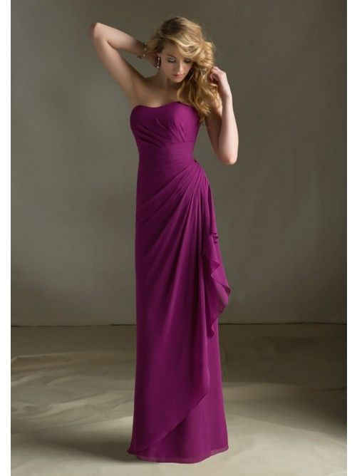 Sheath/Column Square Floor Length Chiffon Dress