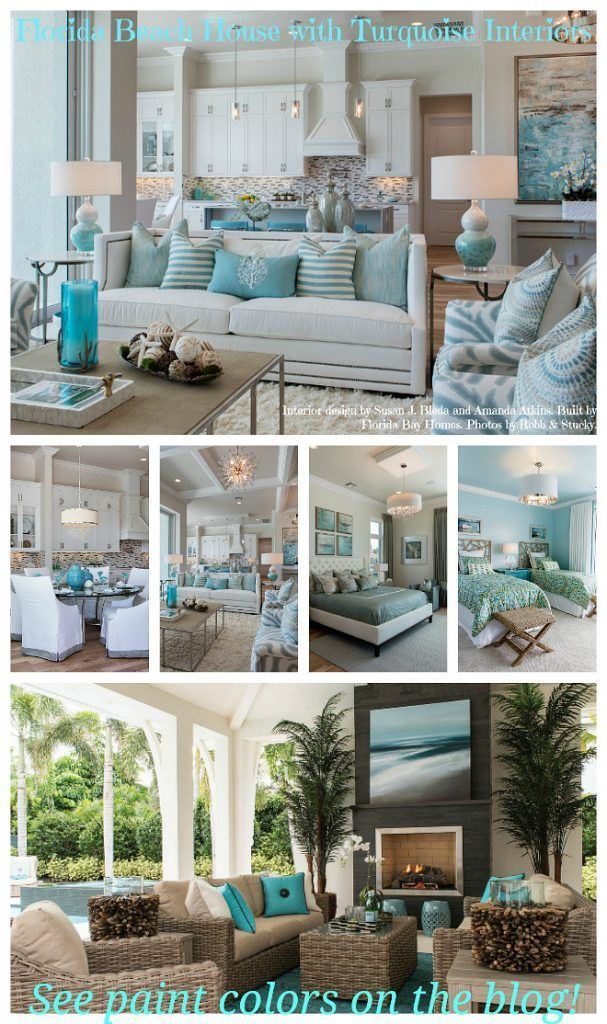 Florida Beach House with Turquoise Interiors Home Ideas in 2018