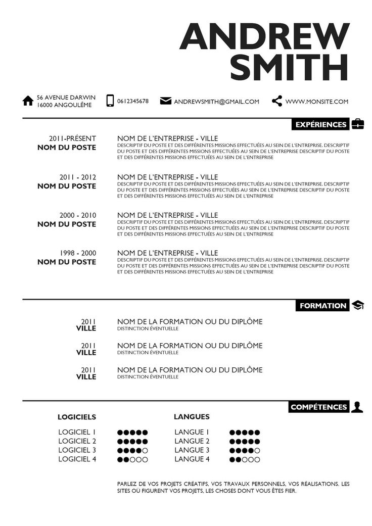 9 best CV images on Pinterest Resume, Curriculum and Resume cv - Simple Format For Resume