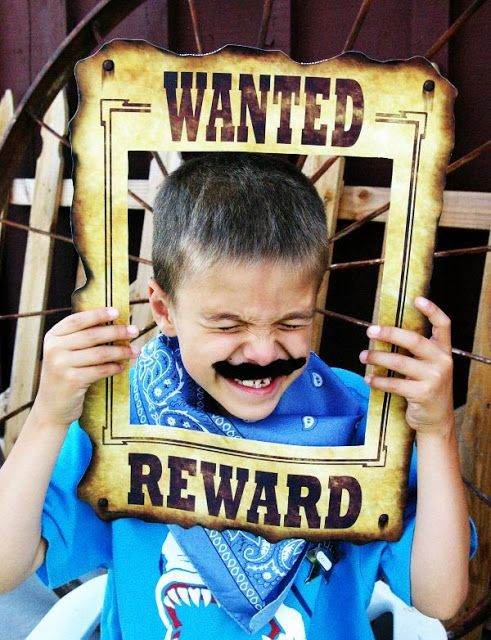 Cowboy Camp - Western fun for the family.  I love this poster idea - have students write what it says about them on the wanted poster, finish with their photo.