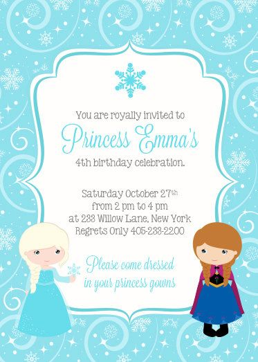 best 25+ frozen birthday invitations ideas on pinterest | frozen, Birthday invitations