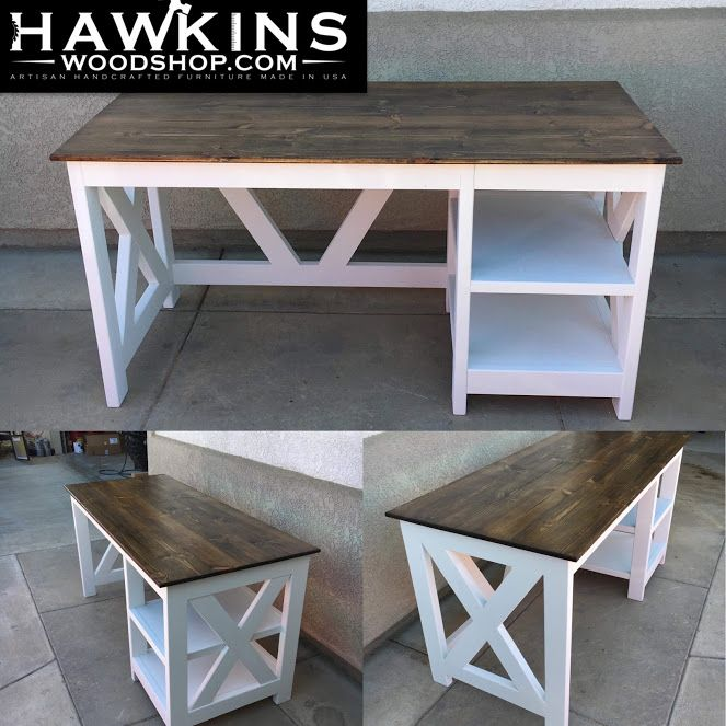 Custom Built To Order Desk Choose Own Length X 28 W X 32 H Diy Wood Desk Furniture Farmhouse End Tables