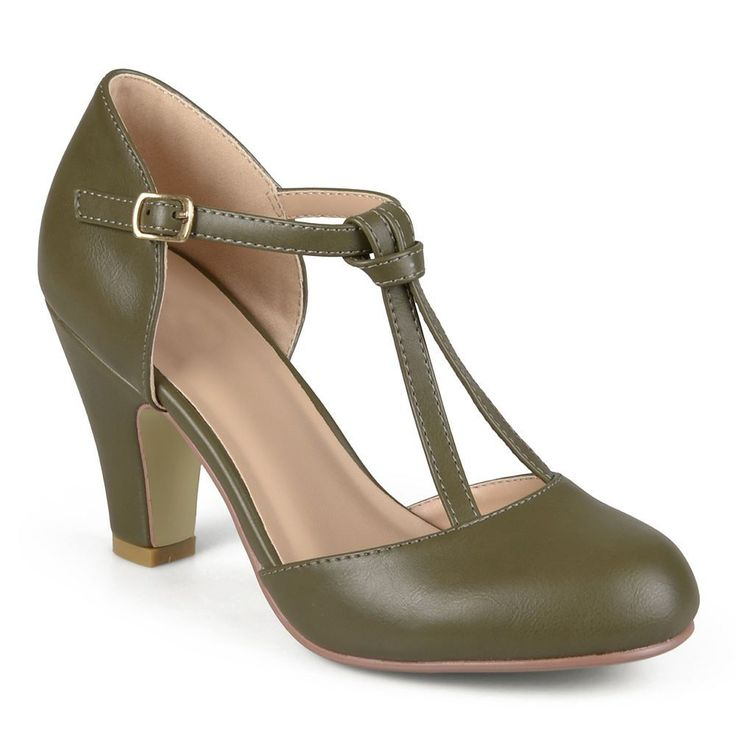 Journee Collection Toni Women's Mary Jane Heels, Size: medium (6.5), Green