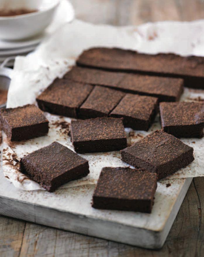 Choc Cacao Fudge Slice