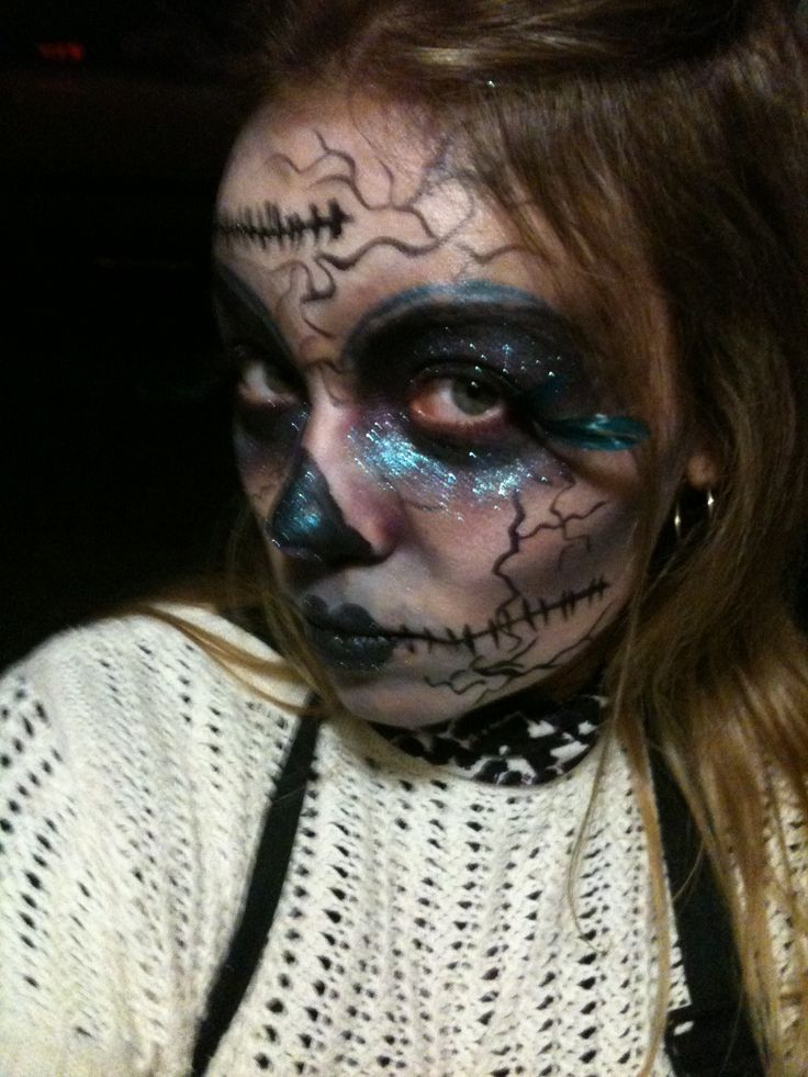 Creepy make up for our Monstars & Beasts Haunted House!