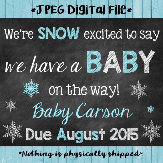 Winter Pregnancy Announcement // Winter by ChalkingItUpBoards