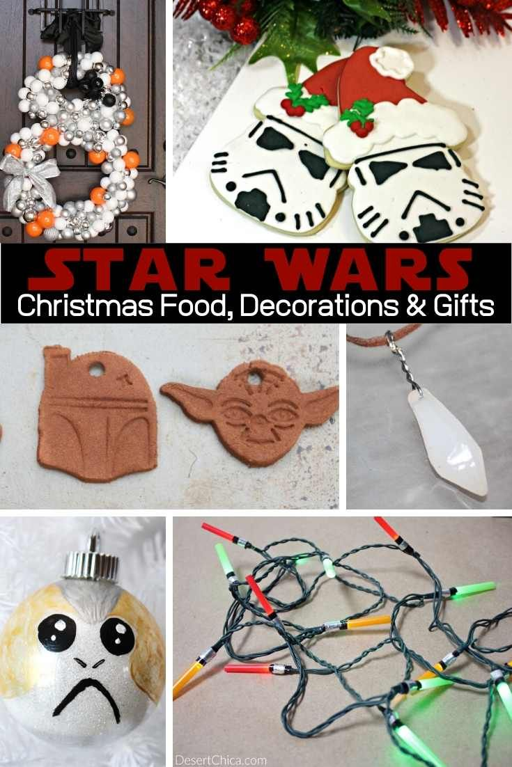 Diy Star Wars Christmas Crafts Food And Decorations Star Wars Christmas Crafts Star Wars Christmas Star Wars Christmas Ornaments