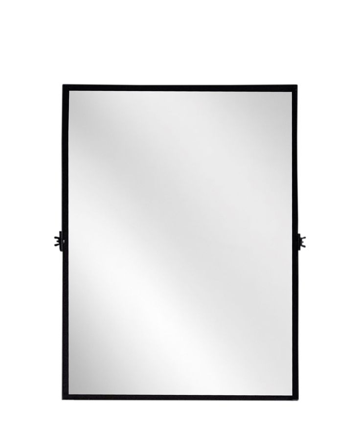 Image Gallery For Website Rectangular Pivot Mirror modern black iron frame with a matte black finish perfect for tilting in a bathroom or entryway measures x Bathroom mirrors