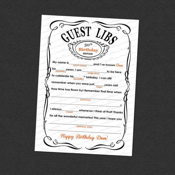 Would you like to get your guests involved and create lasting memories at your next event? Then Guest Libs are the perfect solution! Hand these