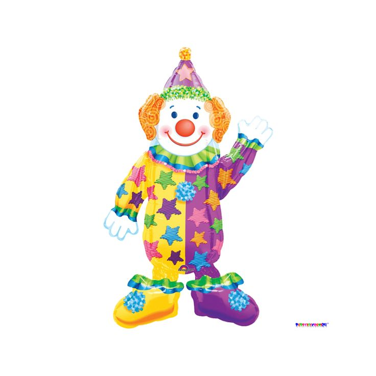 Folienballon Clown - Airwalker - 111 cm
