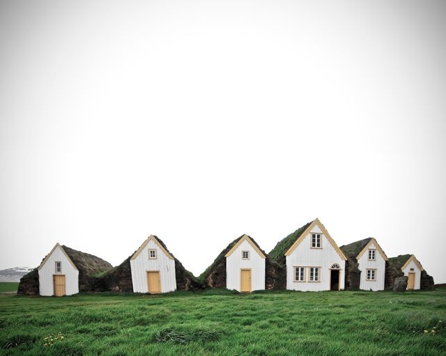 Little homes of earth and wood, Iceland.