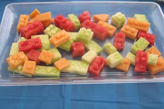 Lego fruit! What a great treat to serve at our party. #LegoDuploParty #LegoDuplo