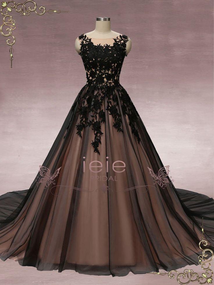 Black Lace Ball Gown Wedding Dress | Martha