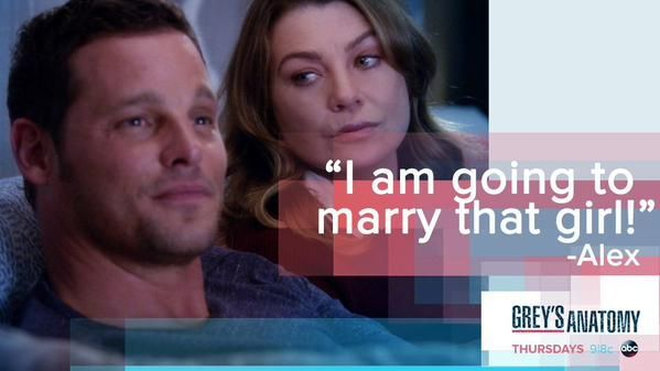 """""""I'm going to marry that girl!"""" Alex Karev to Meredith Grey about Jo Wilson, Grey's Anatomy quotes"""