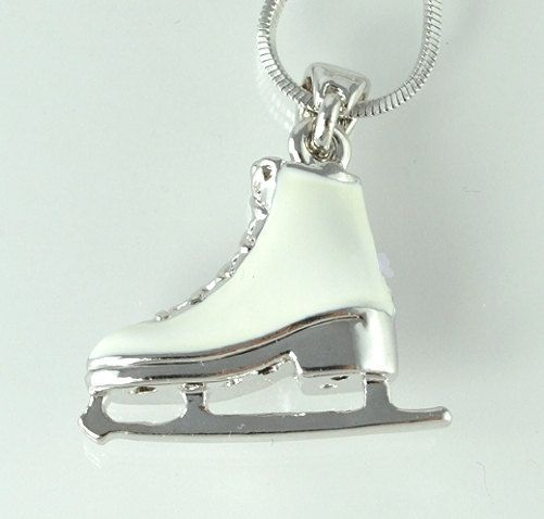 Ice Skating Figure Shoe W Swarovski Crystal Color and White Charm New Pendant