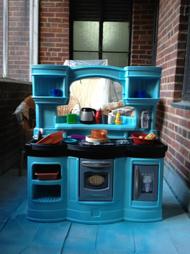 26 best ada's play kitchen makeover images on pinterest | play